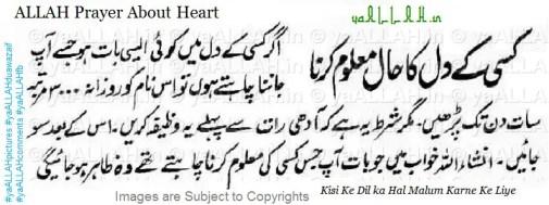 ALLAH prayer about heart-yaALLAH.in