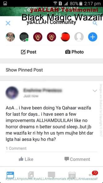 Kala jadu ka tor in Islam-yaALLAH Testimonial-5