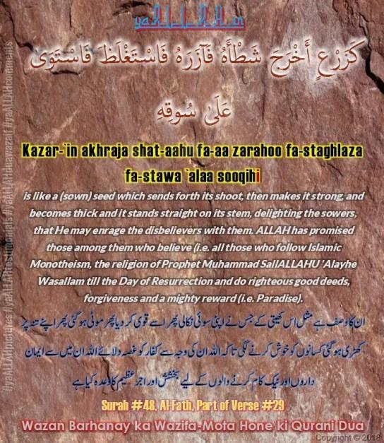 Wazan Barhanay ka Wazifa-Mota Hone ki Qurani Dua