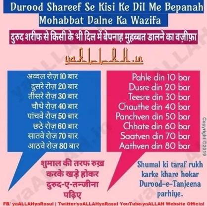 Durood Shareef Tanjeena se kisi ke dil me mohabbat dalna