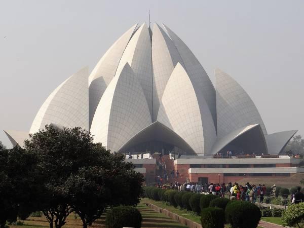 Inde à New Delhi dôme en forme de fleur de lotus