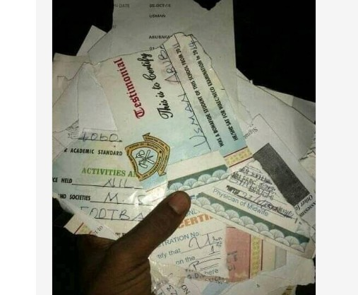 Graduate Tears Certificates In Bauchi State Said Nigeria Is Not A Fair Country