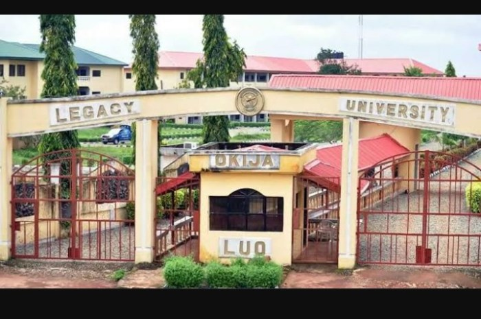 Legacy University Okija (LUO) Post UTME/ Admission Screening Form for 2020/2021 Academic Session