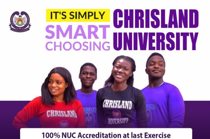 Chrisland University Post UTME Form for 2020/2021 Academic Session [Undergraduate Admission]