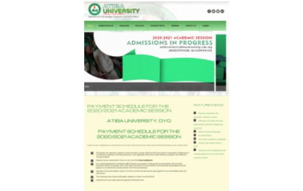 ATIBA University Issues Notice To Students On Payment Of Fees
