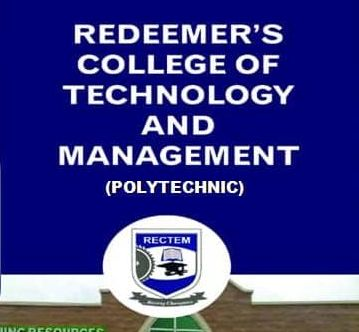 Redeemer's College of Technology and Management (RECTEM) ND Part-Time Admission Form for 2020/2021 Academic Session