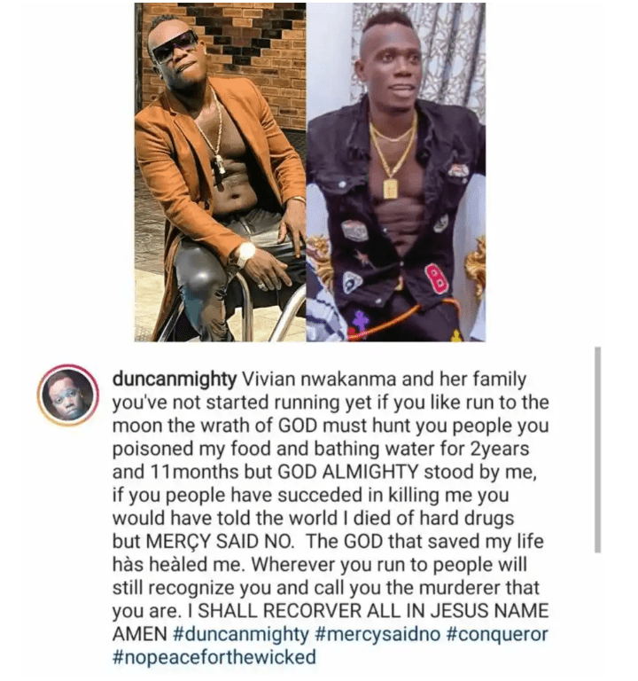 'You Poisoned My Food And Bathing Water For 2 Years' - Duncan Mighty Continues To Call Out Estranged Wife