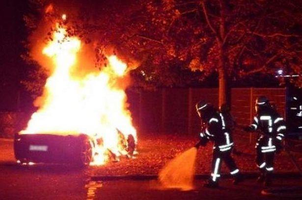 Torched Ferrari