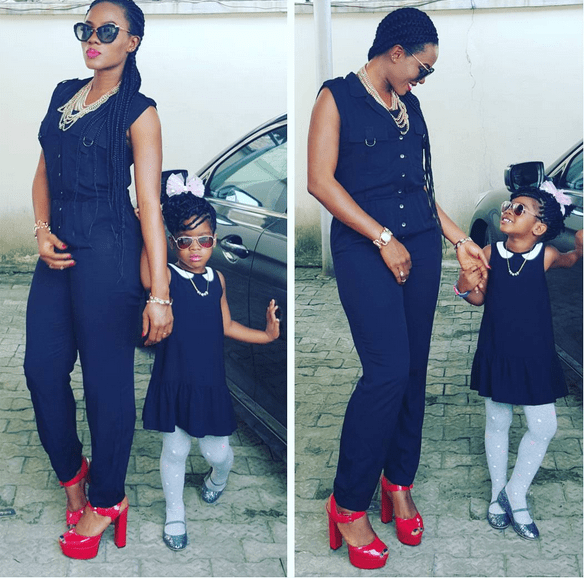Basketmouth's wife and kid