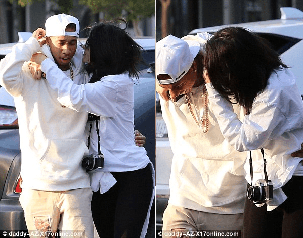 Kylie And Tyga Loved Up1