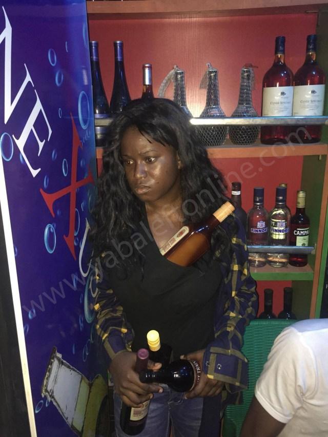 Nigerian Facebook slay queen caught stealing drinks