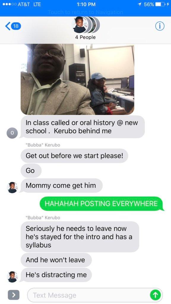Dad gets stranded