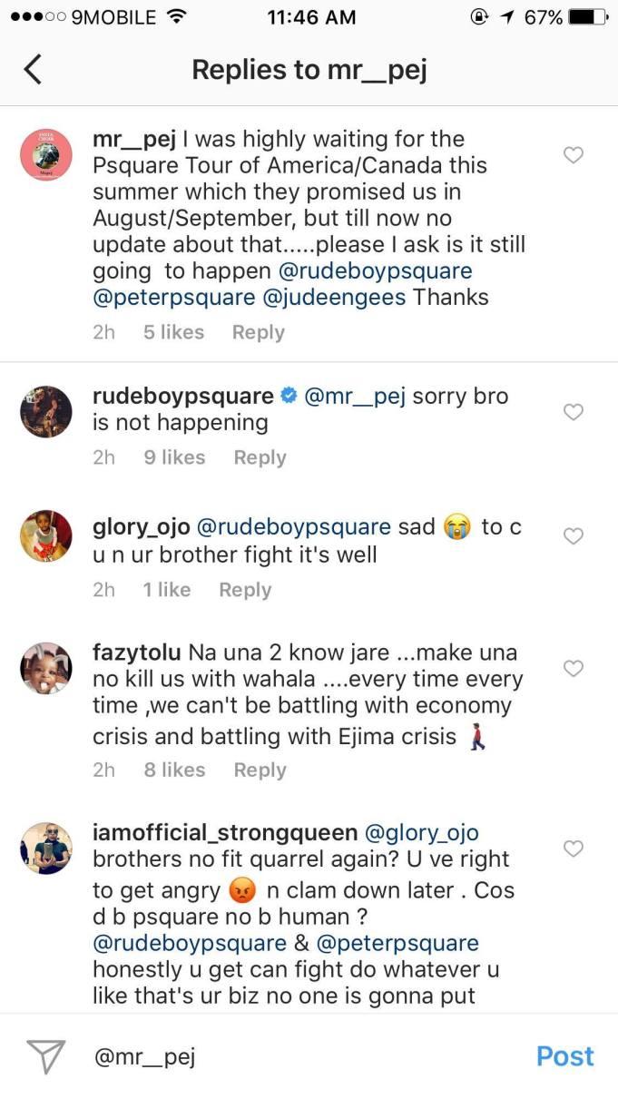 Fans React To P-Square's Fight As They Cancel All Their ...