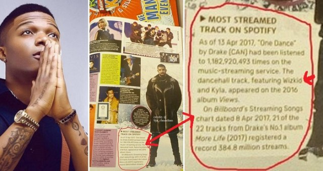 Wizkid Debuts Guinness World Records