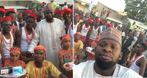 kano state residents wear igbo attires