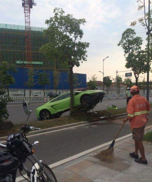 Man crashes rented Lamborghini
