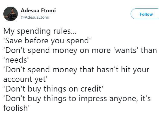 Adesua Etomi Says