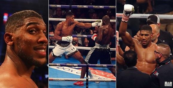 Anthony Joshua beats Carlos Takam