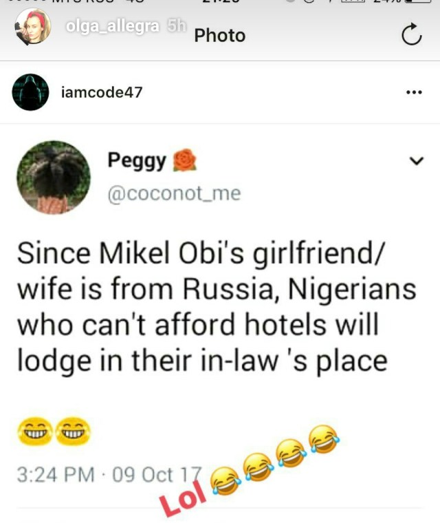 Mikel Obi's Wife Reacts