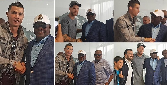 Gov. Wike meets Ronaldo, Ramos over plans to setup Real Madrid Academy in Rivers state(photos)