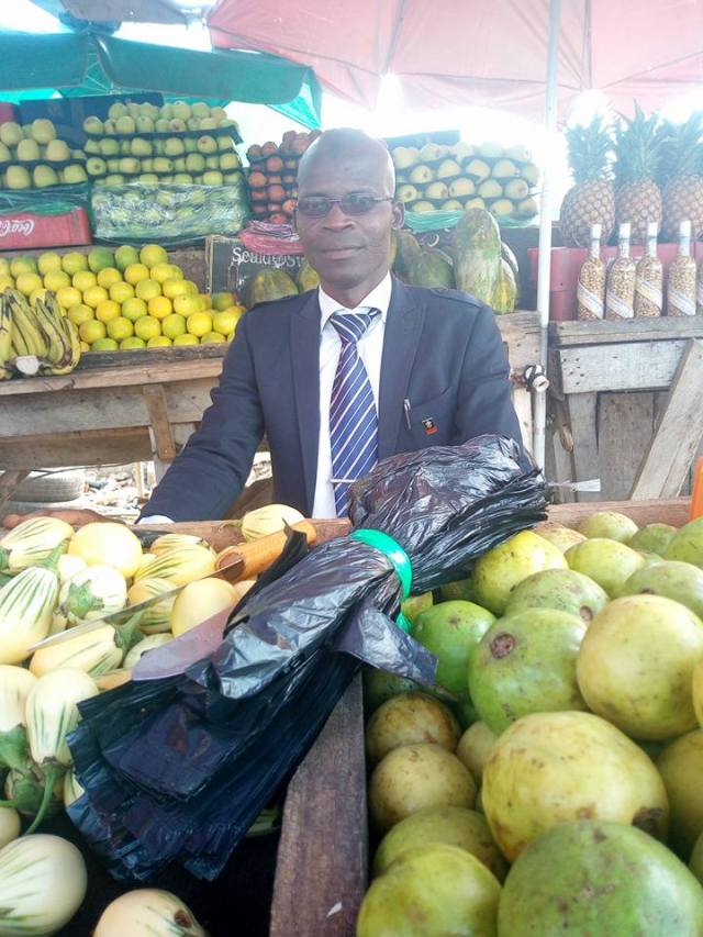 Fruit Seller Spotted Wearing Suit
