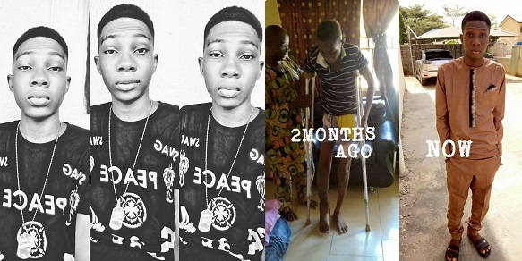 Young Nigerian guy shares amazing testimony of how he survived a Ghastly accident that claimed 18 lives, including his mother's