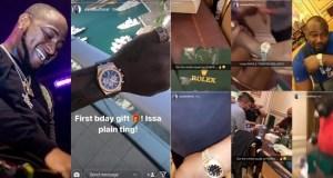 Davido buys rolex watch