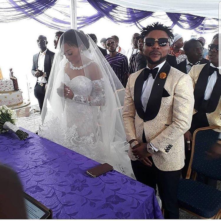 Oritsfemi white wedding