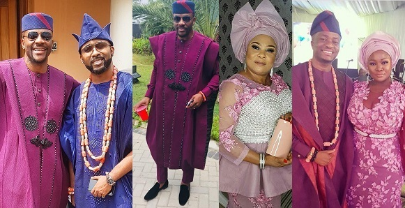Photos of Guests At Adesua Etomi And Banky W's Traditional Wedding #BAAD2017