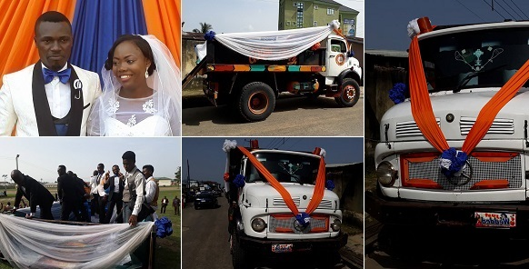 Image result for Couple Use Tipper For Their Wedding In Akwa Ibom State. Photos