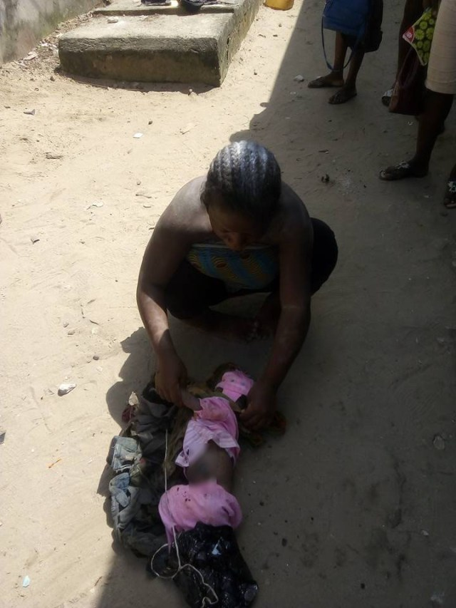 Physically challenged 02 - Physically challenged young lady kills her baby after delivery in Delta state (photos)