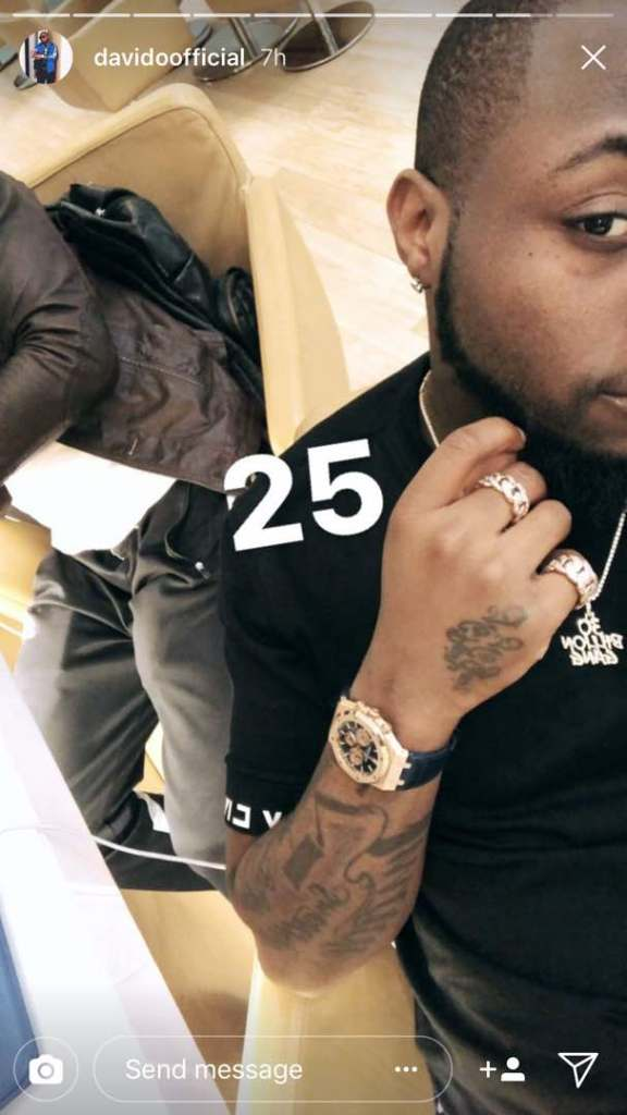 Davido buys rolex watch