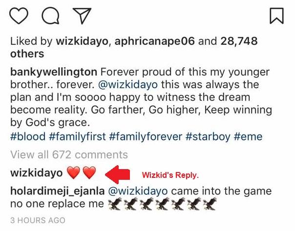 Banky W celebrates Wizkid