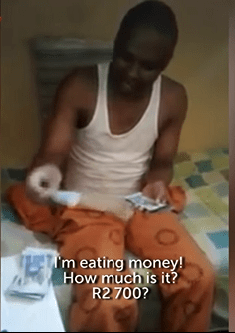 Inmate Flaunts Money