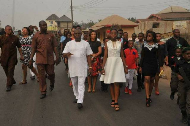 14 year old 03 - 14 Year Old Joy Ezechikamnayo begins duty as Abia State governor along with her team & security (photos)