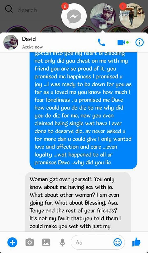 6 - Lady calls out boyfriend she gives money, for cheating on her with her bestfriend