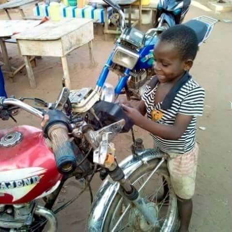 8 Year-Old Boy Owns Motorcycle Repair Workshop