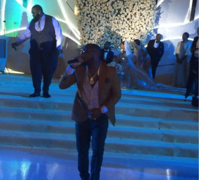 Davido runtown bukola saraki daughter wedding - Photos + Video From Runtown And Davido's Performance At Senator Bukola Saraki's Daughter's Wedding.