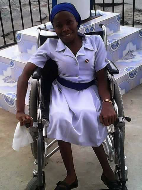 Physically challenged chorister