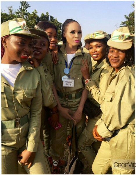 IMG 20171205 141756 707 - Cross dresser is the main centre of attention at NYSC Orientation camp (new photos)