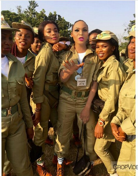 IMG 20171205 141813 820 - Cross dresser is the main centre of attention at NYSC Orientation camp (new photos)