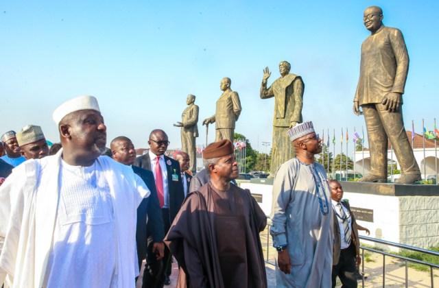 Osinbajo inspects statues