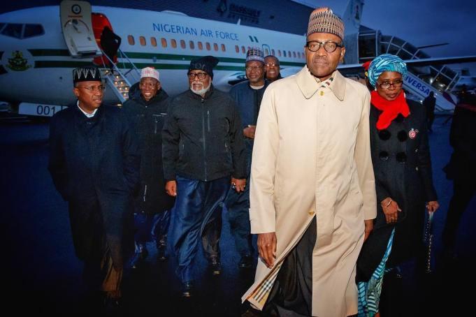 Buhari's Aides Arrival