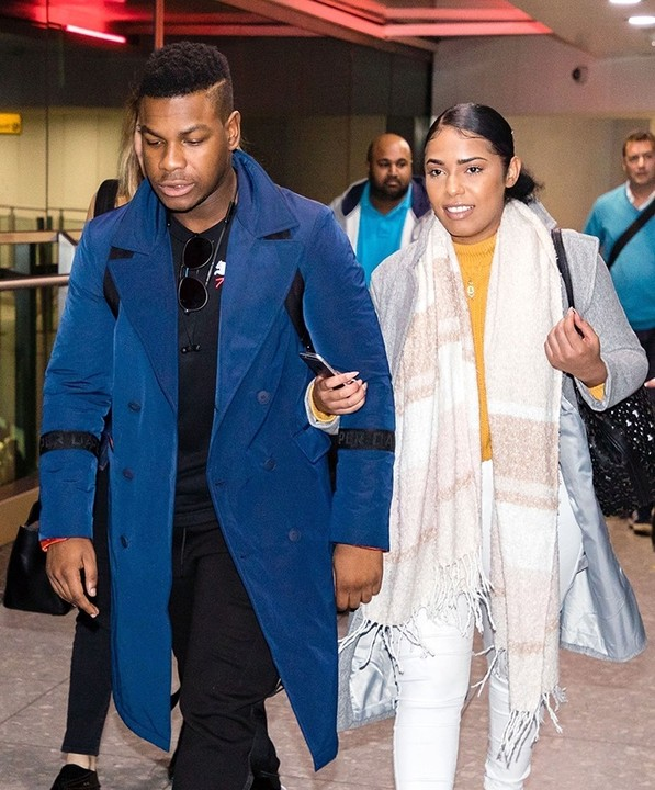 john boyega and new girlfriend2 - Nigerian British Actor, John Boyega And His New Girlfriend Step Out Together. (Photos)