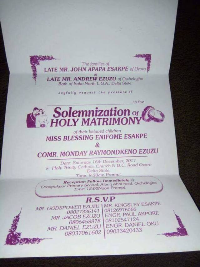 lady calls off wedding2 - Lady Calls Off Her Traditional Wedding Just A Day To The Event In Delta.