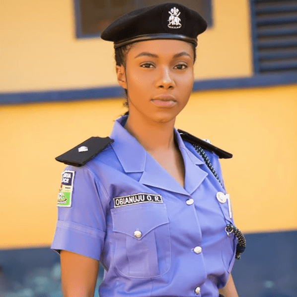 Beautiful Nigerian Female Police Officer