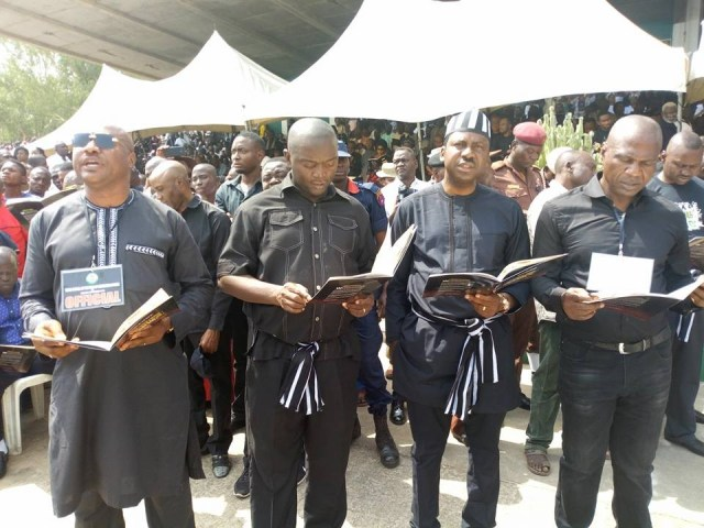 mass burial 03 - Photos from the mass burial for the 75 victims of the Fulani herdsmen attack in Benue