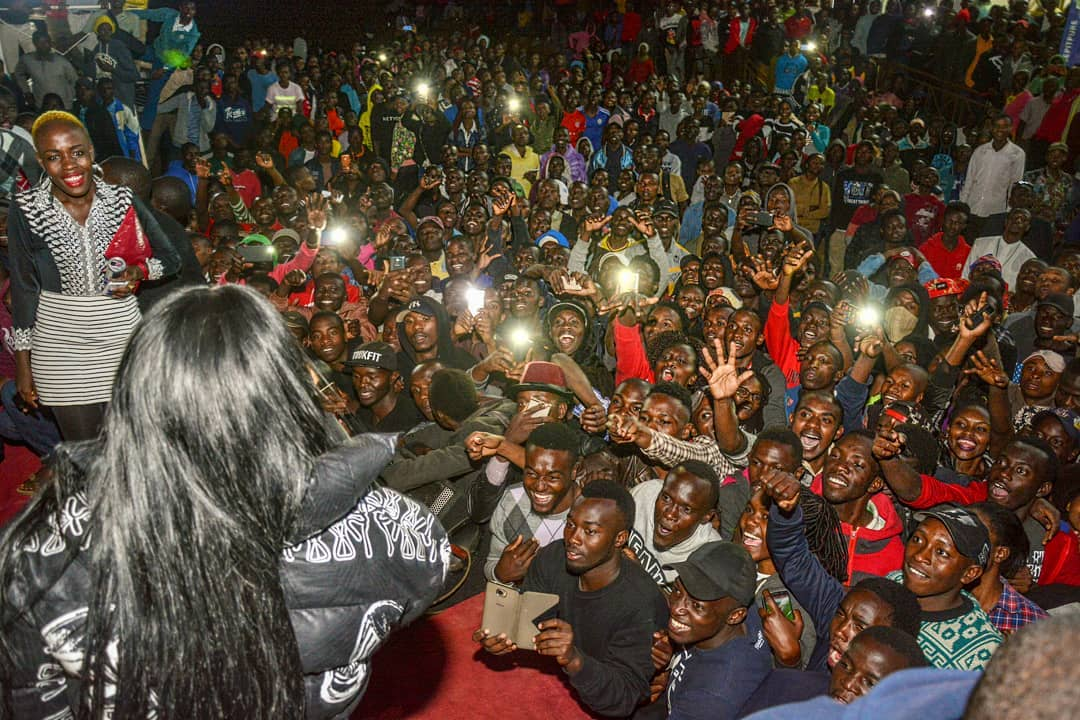 Guy grabs Victoria Kimani Ass During performance on stage
