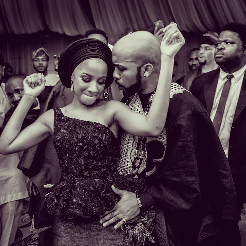 Banky W celebrates wife