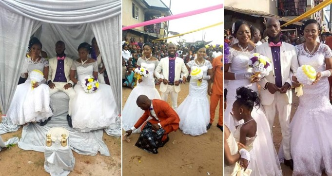 More Photos From Wedding In Abia Where One Man Married Two Wives The Same Day